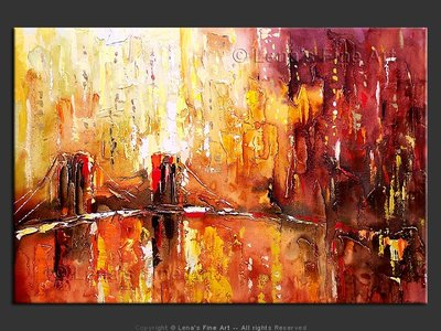 Burning Sunset - original painting by Lena Karpinsky