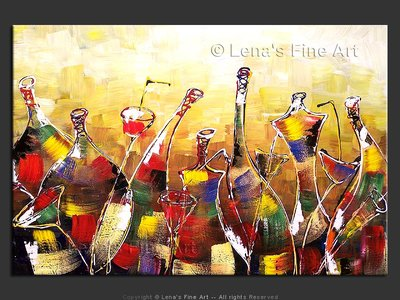 Corporate Party - original painting by Lena Karpinsky
