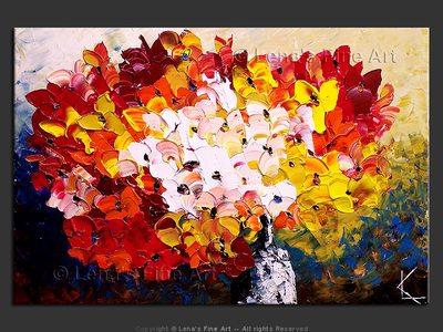 September Bouquet - original canvas painting by Lena