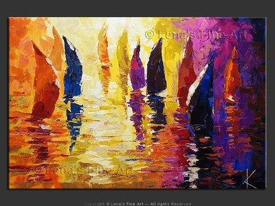 Sunset Yachting - wall art
