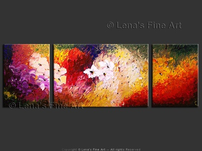 A Dream Garden - original canvas painting by Lena