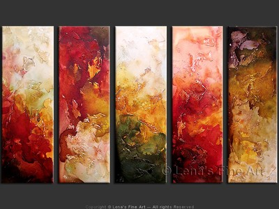 The Earth Core - original canvas painting by Lena