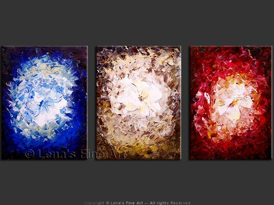 Stained Glass Flowers - contemporary painting