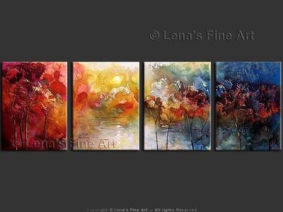 Blue Autumn Evening - original painting by Lena Karpinsky