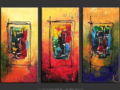 Three Worlds - original painting by Lena Karpinsky