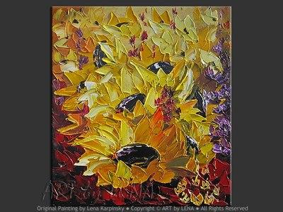 Sunflower Sunday - contemporary painting