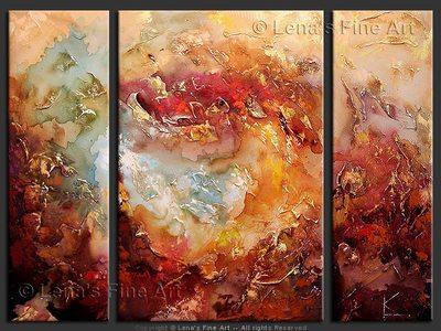 Tsunami Surreal - original canvas painting by Lena