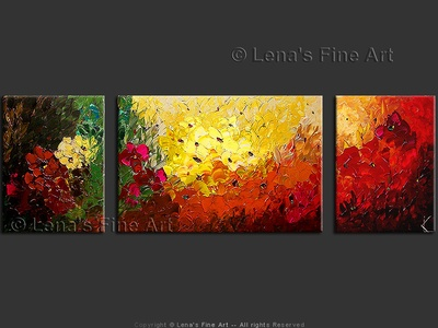 In Full Bloom - original painting by Lena Karpinsky