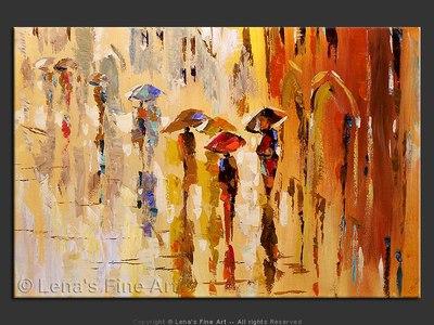 Morning in Paris. Rain. - contemporary painting