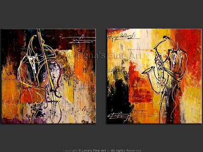 Urban Jazz - original canvas painting by Lena