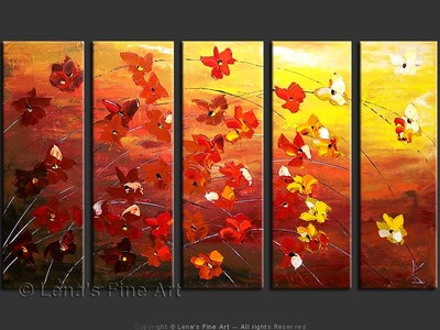 Autumn Flowers - modern artwork