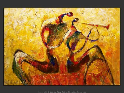 Duo for Clarinet - contemporary painting