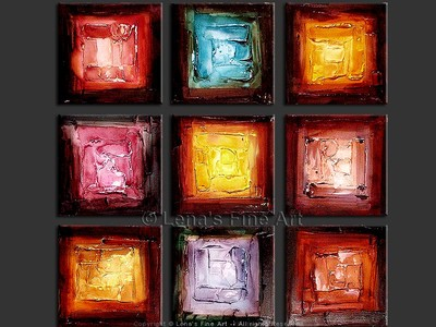 Gemstones - contemporary painting