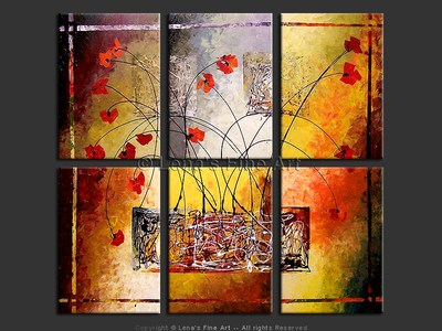 Ikebana - original painting by Lena Karpinsky