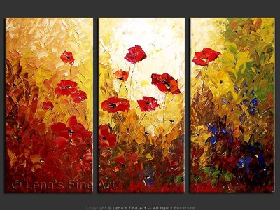 Flower Paradise - original canvas painting by Lena