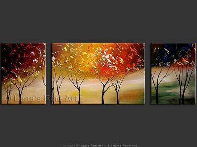 Concord Autumn - original painting by Lena Karpinsky