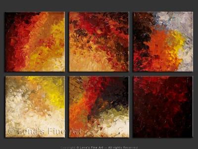 Jasper Colors - original canvas painting by Lena