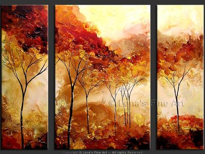 Golden Autumn - original painting by Lena Karpinsky