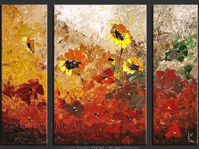 Garden in the Fall - original canvas painting by Lena