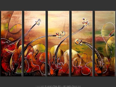 Valse Brilliante - original canvas painting by Lena