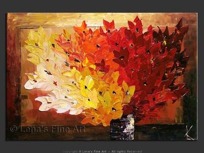 November Bouquet - original canvas painting by Lena