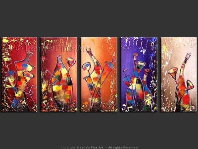 To Life! - original canvas painting by Lena
