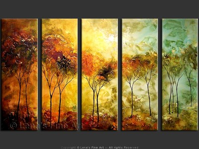 Savanna Sunset - contemporary painting