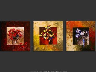 Three Bouquets - home decor art