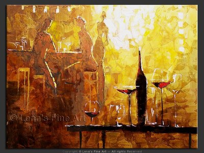 Friday Night - original painting by Lena Karpinsky