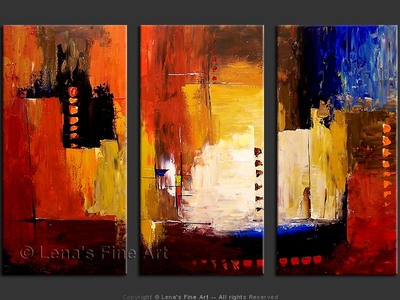 New World - original canvas painting by Lena