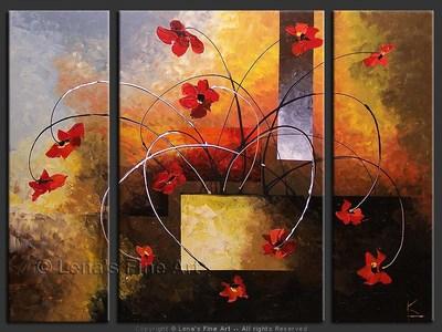Sunset Ikebana - wall art