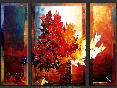 All The Colors Of Autumn - original painting by Lena Karpinsky