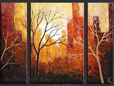 Central Park: November - original painting by Lena Karpinsky