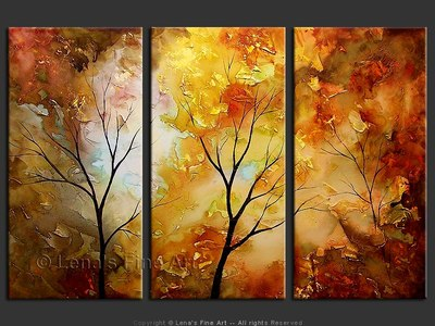 Colors Of The Falling Leaves - original painting by Lena Karpinsky