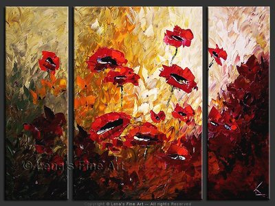 Deep Red - original painting by Lena Karpinsky