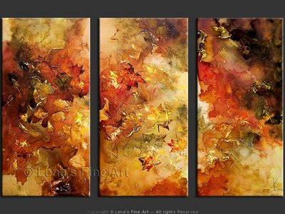 The Falling Leaves - original painting by Lena Karpinsky