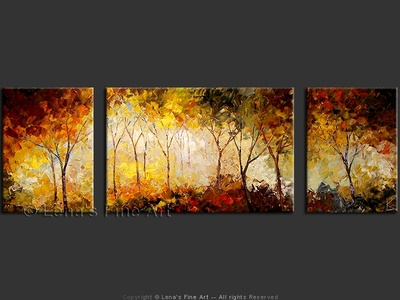 Autumn Forest - original painting by Lena Karpinsky