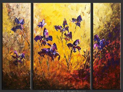 Iris Fields - original painting by Lena Karpinsky
