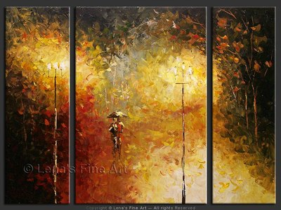 In The Night - original painting by Lena Karpinsky