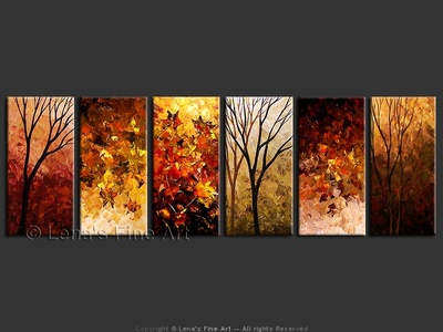Autumn Feelings - original painting by Lena Karpinsky