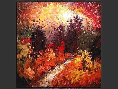 Autumn Forest Sunset - home decor art