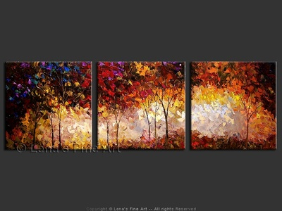 The Colors Of Fall - original canvas painting by Lena