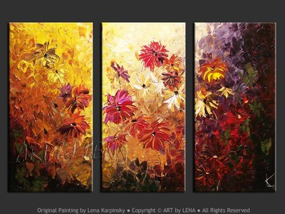 Asters - home decor art