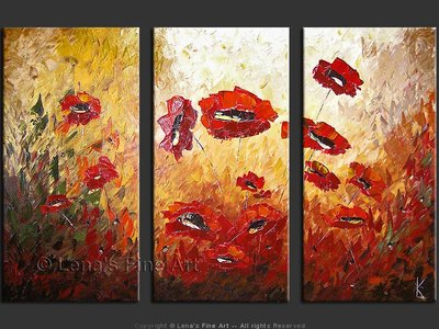 Giant Poppies - contemporary painting