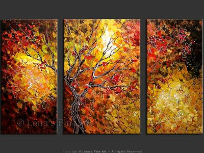 The Tree of Eternal Life - original canvas painting by Lena