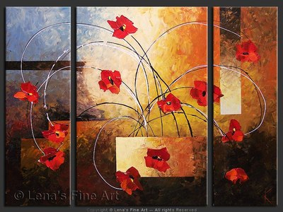 Ikebana With Poppies - contemporary painting