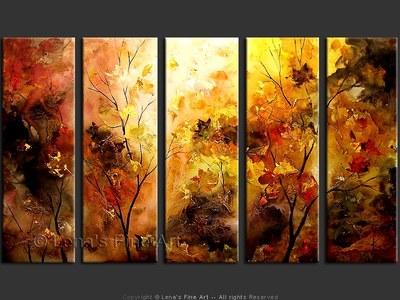 Autumn Views - original canvas painting by Lena