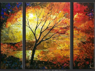 Autumn Lake - contemporary painting