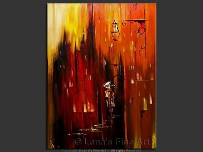 Downtown Lights - original painting by Lena Karpinsky
