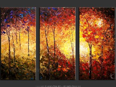 Virginia Mountain Forest - original painting by Lena Karpinsky